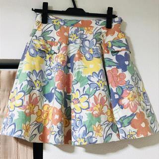 メリージェニー(merry jenny)のメリージェニー 花柄スカート(ひざ丈スカート)