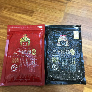 新品 タマチャンショップ 三十雑穀 300g 赤 黒 セット(米/穀物)