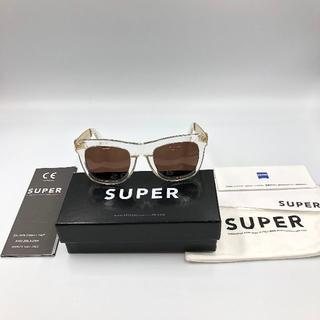 SUPER -  スーパー SUPER サングラス 透明 クリア フレーム ゴールド 金