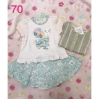 クーラクール(coeur a coeur)の新品&美品♡クーラクール♡夏物3点セット♡70&80(Tシャツ)