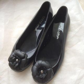 ヌォーボ(Nuovo)のレインフラットパンプス♡ブラック(レインブーツ/長靴)