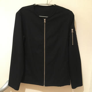 レイジブルー(RAGEBLUE)のRAGEBLUE 春物ノーカラージャケット Mサイズ ブラック(ノーカラージャケット)