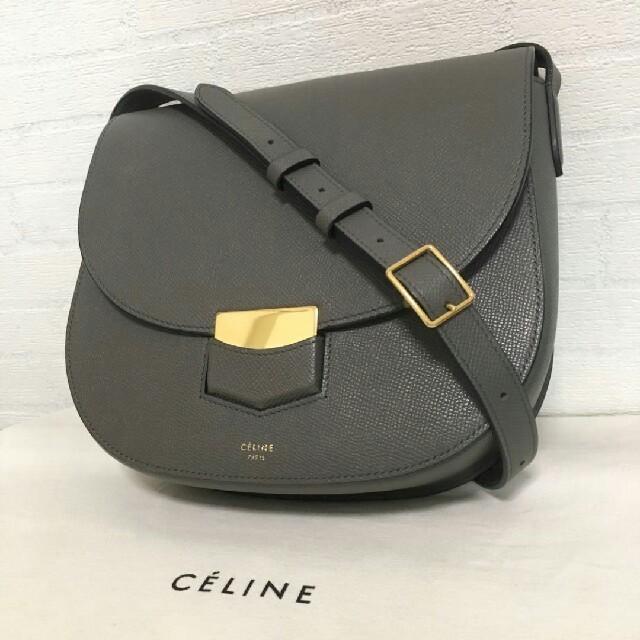 70f2fb7eca89 celine(セリーヌ)のセリーヌ トロッター コンパクト グレー ショルダーバッグ レディースのバッグ(ショルダー
