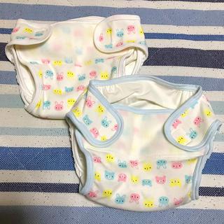 ニシマツヤ(西松屋)の布おむつカバー2枚セット 60サイズ(ベビーおむつカバー)