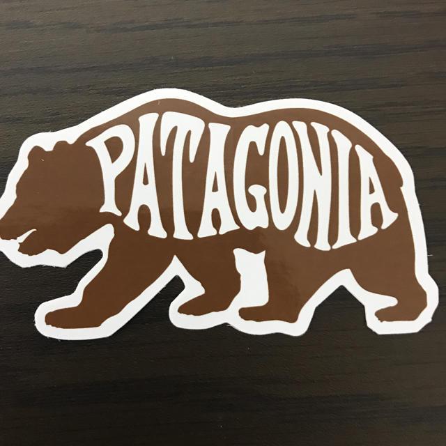 patagonia(パタゴニア)の【縦5cm 横8.8cm】patagonia パタゴニア   廃盤レアステッカー 自動車/バイクのバイク(ステッカー)の商品写真