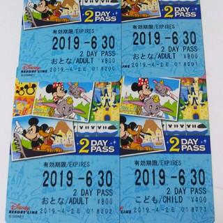 ディズニー(Disney)のディズニーリゾートライン 2day パス(鉄道乗車券)