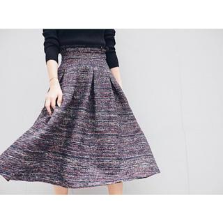 ダニーアンドアン(Danny&Anne)のdanny&anne❥❥tweed volume skirt(ひざ丈スカート)