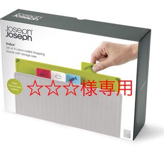 ジョセフジョセフ(Joseph Joseph)の☆☆☆様専用 ジョセフジョセフ インデックスまな板 2.0 シルバー(調理道具/製菓道具)
