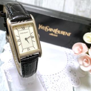 サンローラン(Saint Laurent)の【電池交換済み】サンローラン 腕時計 タンク型 シルバー YSL ボーイズ(腕時計(アナログ))