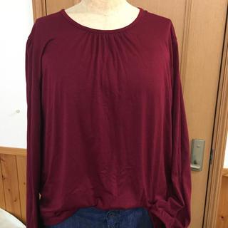 しまむら - 大きいサイズ!新品ワイン色長Tシャツ4L