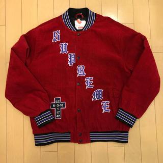 4cd1ccaddae3 シュプリーム(Supreme)のOld English Corduroy Varsity Jacket 赤 L(スタジャン)