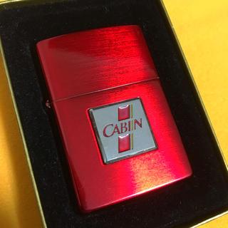 ジッポー(ZIPPO)のZIPPO ヴィンテージ CABIN 懸賞品 レッド エンブレム(タバコグッズ)