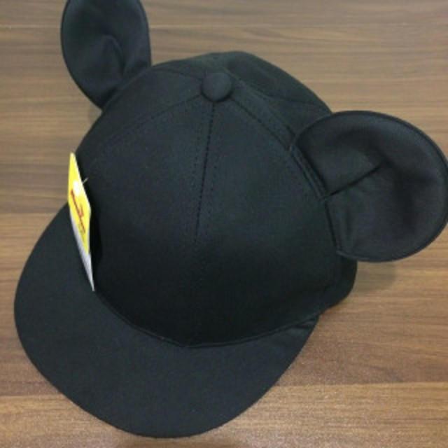 9d5153784c129 49-52cm ミッキー風 耳付き 帽子 コットン ツイルの通販 by hana's shop ...