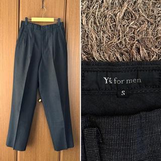 ワイズ(Y's)の名作 90'Y's formen 2Tuck ワイドタックテーパードパンツ(スラックス)