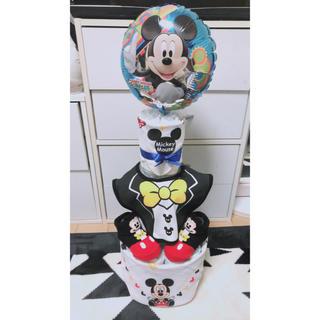 ディズニー(Disney)のオムツケーキ 3段 ディズニー ミッキー(ベビー紙おむつ)