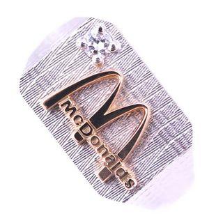 McDonald's マクドナルド リング ダイヤモンド 10K WG レア(リング(指輪))
