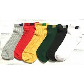 6足セット 即日完売商品 売れ筋商品 靴下 カラー ソックス レディース(ソックス)
