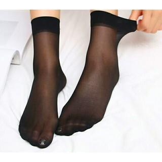 10足セット レディースシースルーソックス くるぶし丈 靴下 抗菌防臭(ソックス)