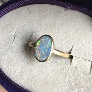 アッシュペーフランス(H.P.FRANCE)のシンジュエリー shinjewelry  ブラックオパールリング(リング(指輪))
