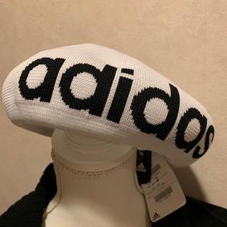 アディダス(adidas)のアディダス ベレー帽  白  春夏物  新品  男女(ハンチング/ベレー帽)