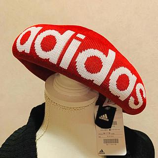 アディダス(adidas)の残1点   アディダス ベレー帽  新品  男女  赤(ハンチング/ベレー帽)