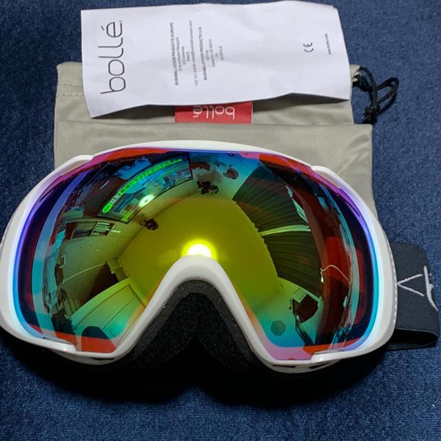 bolle(ボレー)の【bolle】スノーゴーグル ホワイト 未使用品 スポーツ/アウトドアのスノーボード(アクセサリー)の商品写真