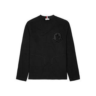 モンクレール(MONCLER)の新品未使用☆MONCLER ロゴ スウェット シャツ ブラック(スウェット)