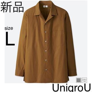 ユニクロ(UNIQLO)の④ユニクロユー 長袖シャツ Yシャツ ブラウス 開襟シャツ L イネス gu(シャツ)