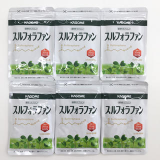 カゴメ(KAGOME)の【特売セール】スルフォラファン 93粒 約1カ月分 6袋セット   (その他)