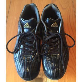 アディダス(adidas)のアディダス 24.5cm 野球スパイク 黒(シューズ)