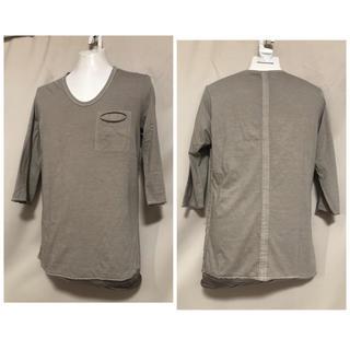 シェラック(SHELLAC)のSHELLAC シェラック レイヤード 七分丈 カットソー 48 L 製品染め(Tシャツ/カットソー(七分/長袖))