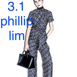 スリーワンフィリップリム(3.1 Phillip Lim)の新品 3.1フィリップリム シルク ハイウエスト タイベルト ワイドパンツ(バギーパンツ)