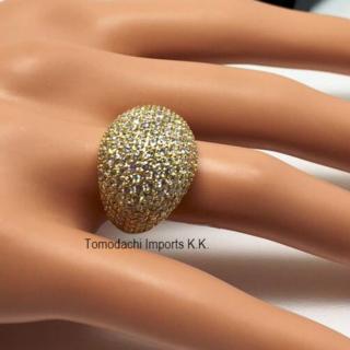 K18 イエローゴールド Diamond Studded Chunky リング(リング(指輪))