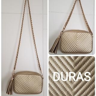 デュラス(DURAS)のDURAS  タッセルつきキルティングショルダーバッグ(ショルダーバッグ)