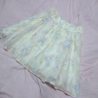 リズリサ(LIZ LISA)のLIZLISA オーガンジー花柄スカート(ひざ丈スカート)
