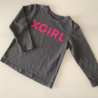 エックスガールステージス(X-girl Stages)のx-girl  ロゴ ロンT 110(Tシャツ/カットソー)