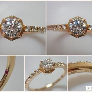 N.e K18 ダイヤモンド total 0.57ct corona リング N(リング(指輪))