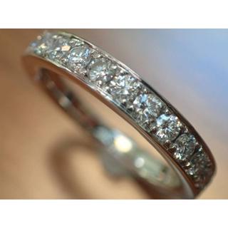 サバース Pt900 ダイヤモンド 0.50ct ハーフエタニティ リング SA(リング(指輪))