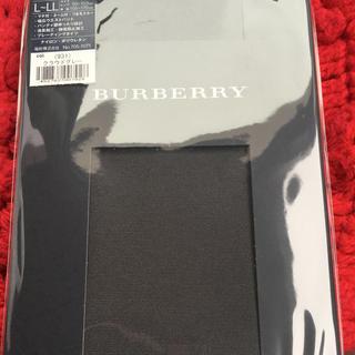 バーバリー(BURBERRY)のバーバリータイツグレー2点新品LからL Lサイズ(タイツ/ストッキング)