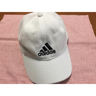 アディダス(adidas)のadidas キャップ ホワイト 57cm〜60cm(キャップ)