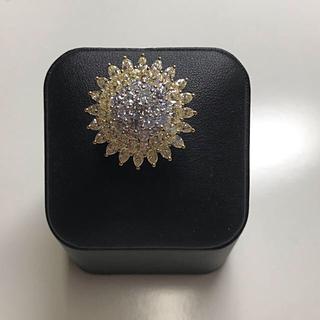 ダイヤモンドリング フラワーモチーフ(リング(指輪))