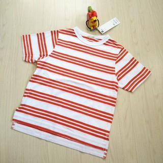 ジーユー(GU)のGU キッズ ボーダー Tシャツ 120㎝(Tシャツ/カットソー)