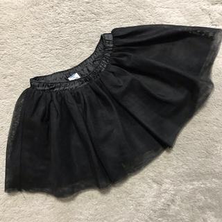 オールドネイビー(Old Navy)の値下!OLD NAVY チュールスカート 70 ブラック(スカート)