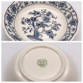 ニッコー(NIKKO)のNIKKO IRONSTONE ニッコー ブルー カーネーション 皿 セット(食器)