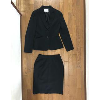 シマムラ(しまむら)の黒 スカートリクルート スーツ セット しまむら セオリア 7AR(スーツ)