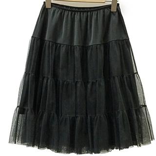 ワコール(Wacoal)のWACOAL DIA ワコールディア 試着のみ黒ペチコート チュールスカート (ひざ丈スカート)