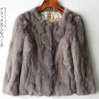 豪華 毛皮コート柔らかい ショット女性の服 手触り気絶級!おしゃれ ファッション(毛皮/ファーコート)
