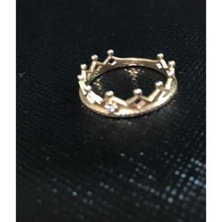 ノジェス(NOJESS)のNOJESS✨K10ピンクゴールドダイヤ リング クラウン 指輪 王冠 (リング(指輪))