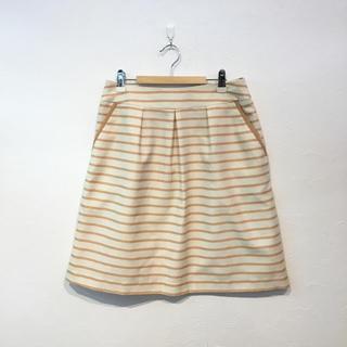 GLACIEL ボーダー ミニスカート(ミニスカート)