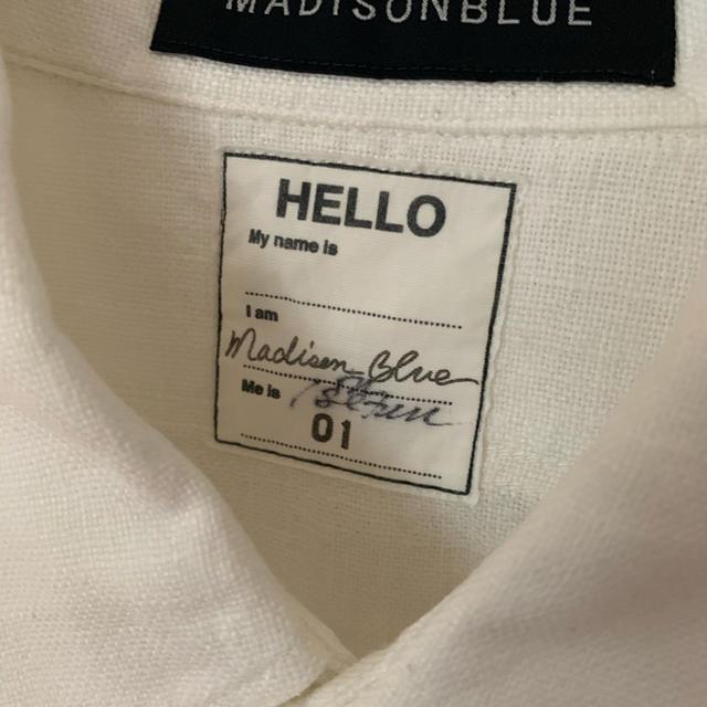 MADISONBLUE(マディソンブルー)の 伊勢丹別注 マディソンブルー ハンプトンリネンシャツ  レディースのトップス(シャツ/ブラウス(長袖/七分))の商品写真